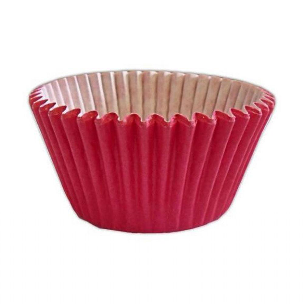cerise dark pink cupcake cases