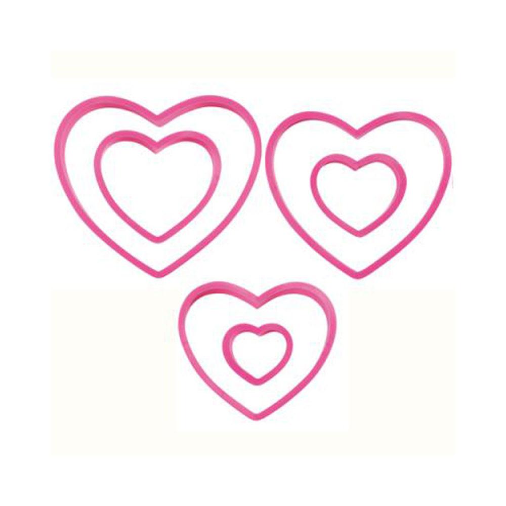 wilton set of 6 heart cookie cutter