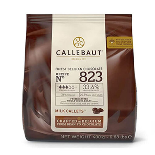 callebaut milk chocolate 400g