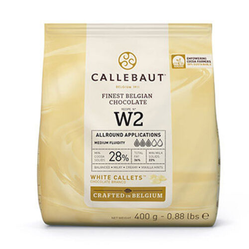 callebaut white chocolate 400g