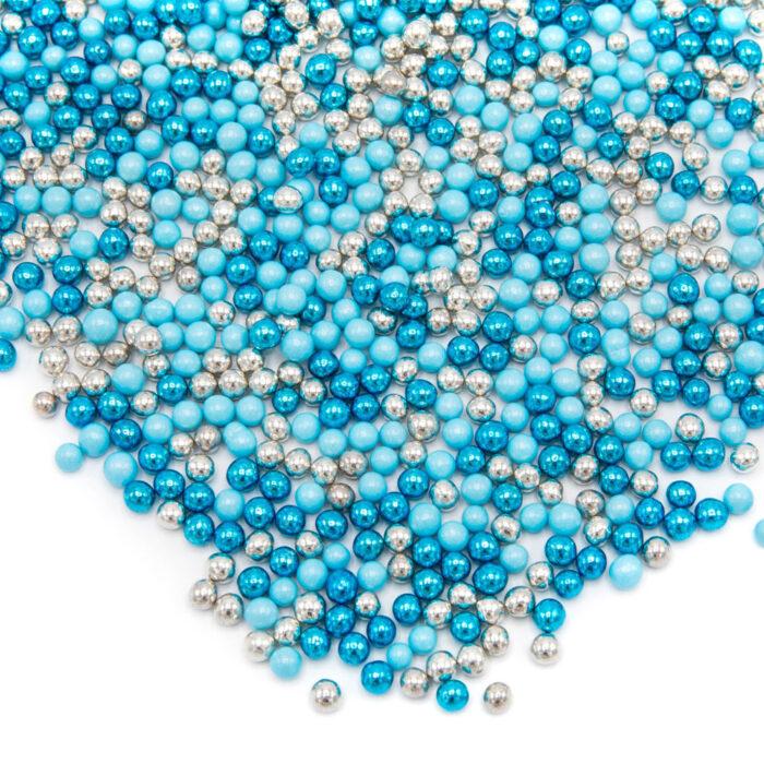 happy sprinkles blue fancy metallic chocolate pearls
