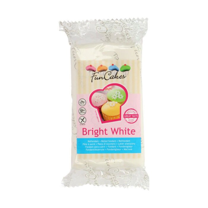 funcake fondant bright white