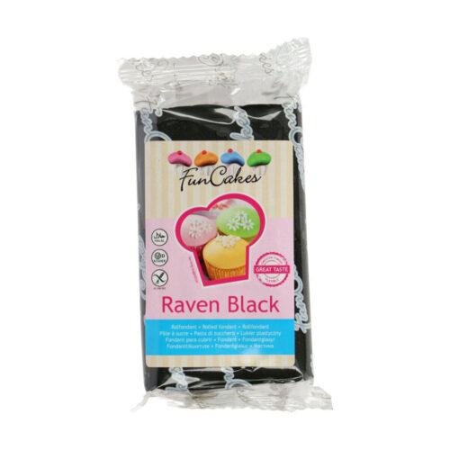 funcake fondant raven black