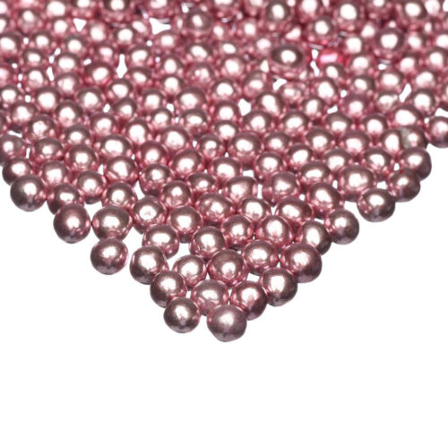 pink chocolate metallics small pearls happy sprinkles