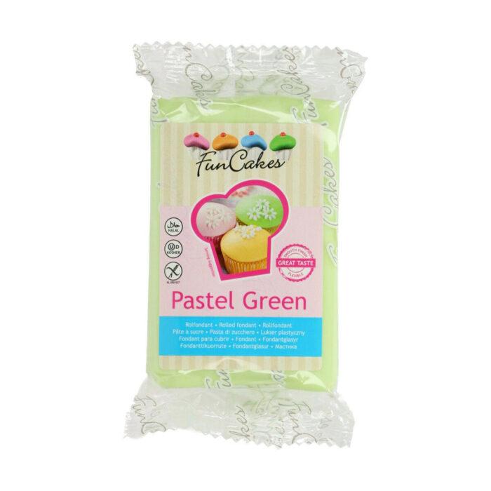 funcake sugarpaste pastel green