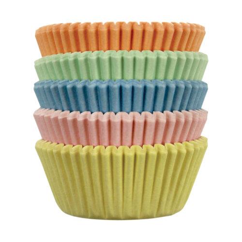 Mini pastel cupcake cases