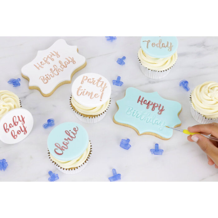 pme lettering set cookies and cupcakes