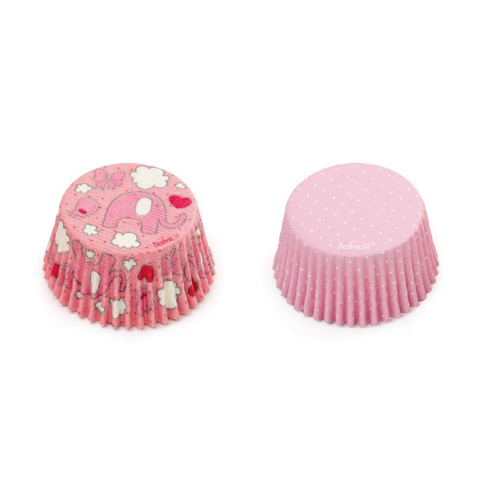 decora pink cupcake case