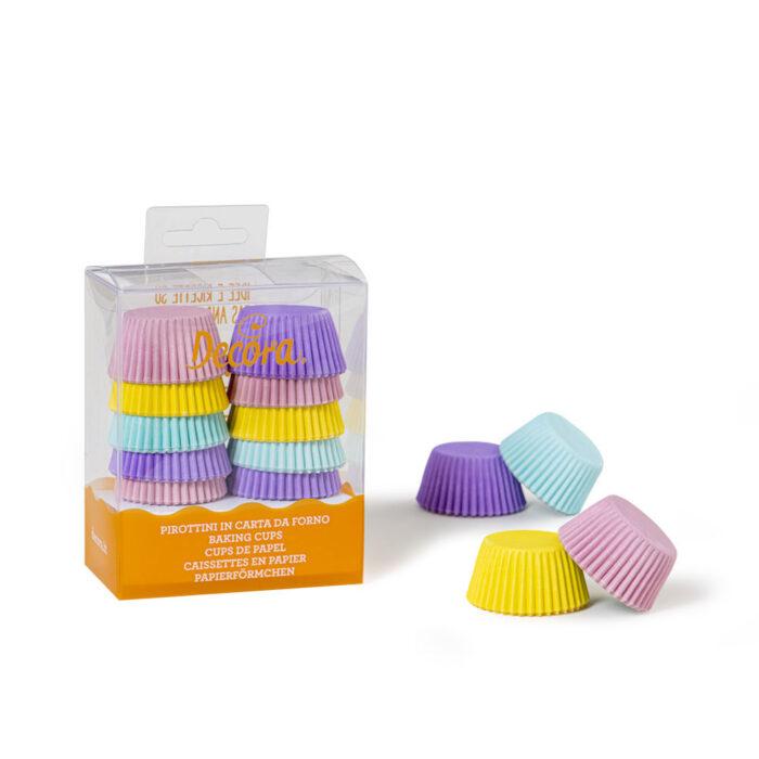 mini cupcake case pastel