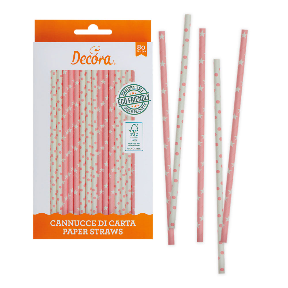 paper straws pink