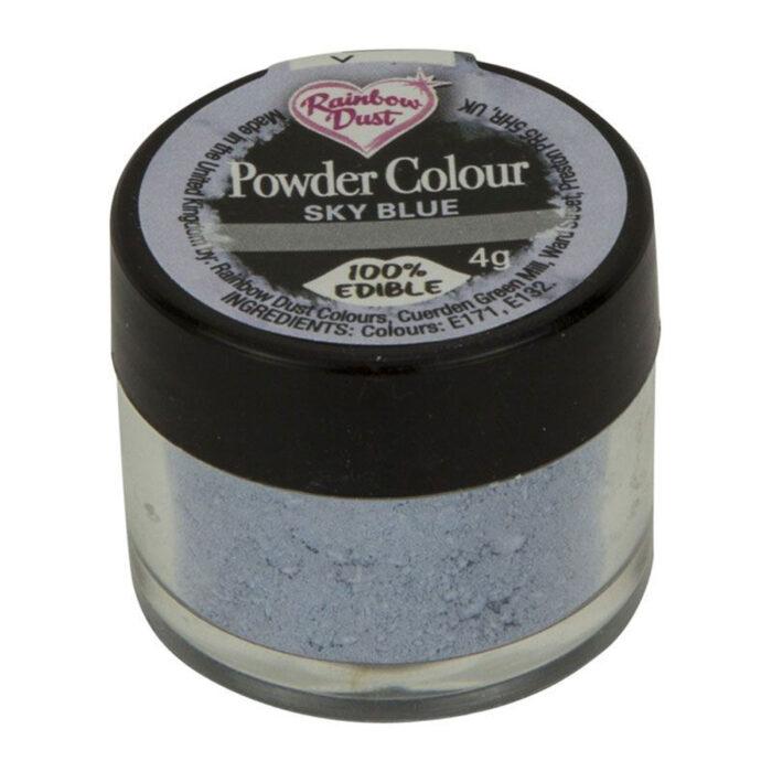 sky blue rainbow dust dust powder
