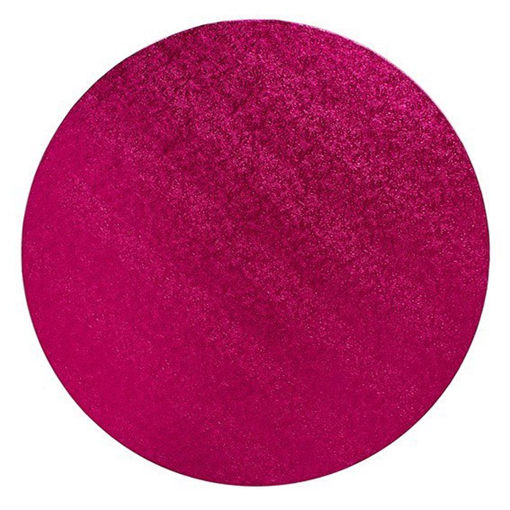 dark pink round cake drum board