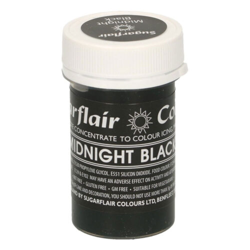 sugarflair midnight black