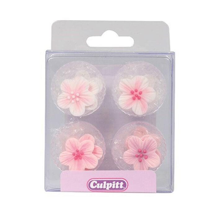 pink sugar flowers