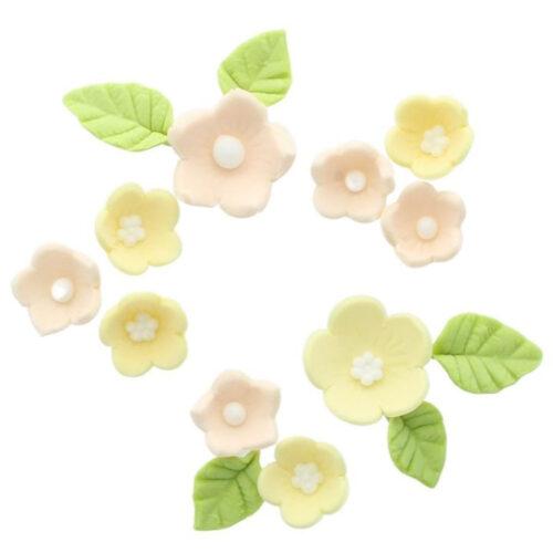 yellow sugar flowers