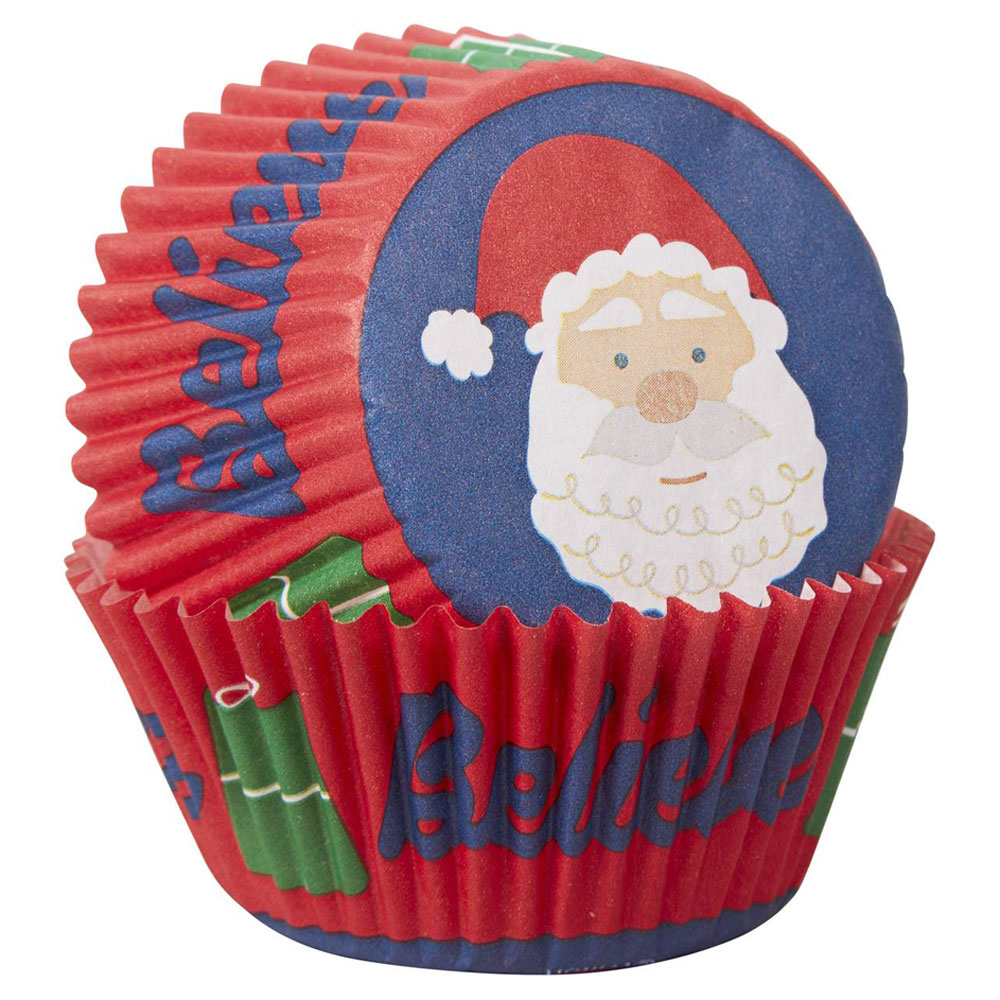 wilton christmas cupcake case santa