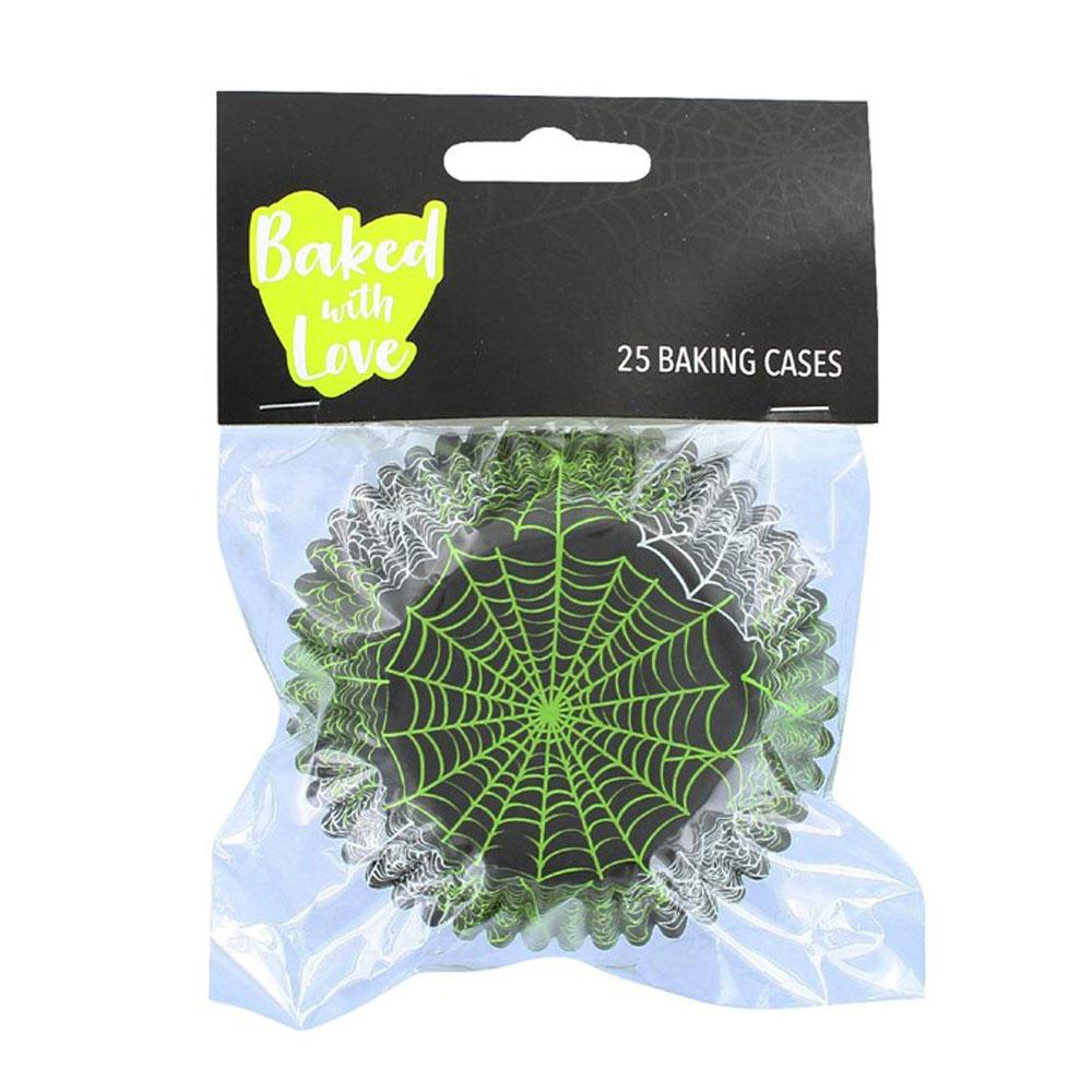 halloween cupcake cases spider web design