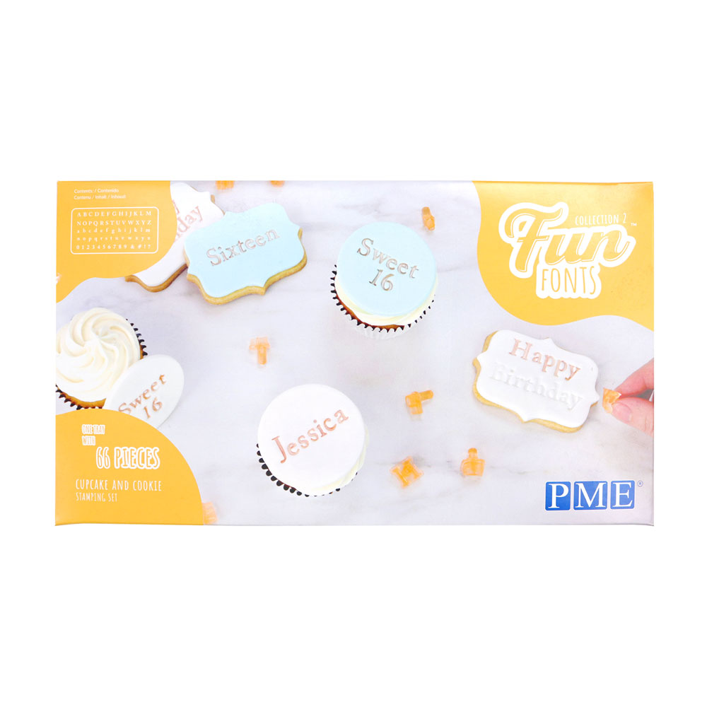 pme fun font cookie and cupcake set collection 2