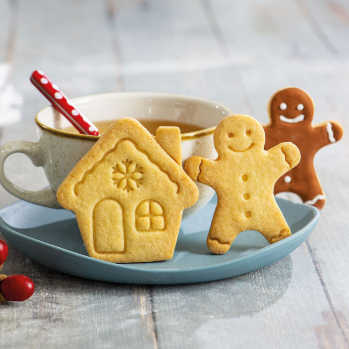 decora gingerbread house and gingerbread man cookie cutter