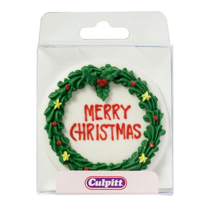 merry christmas royal icing culpitt cake topper
