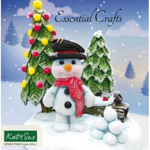 snowman christmas mould