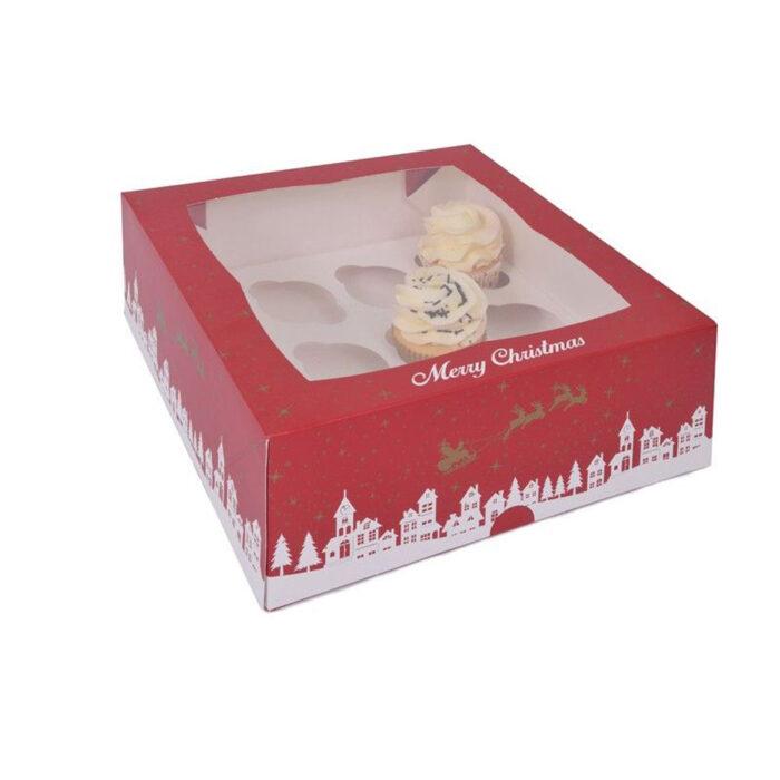 christmas cupcake box for 12 cupcakes