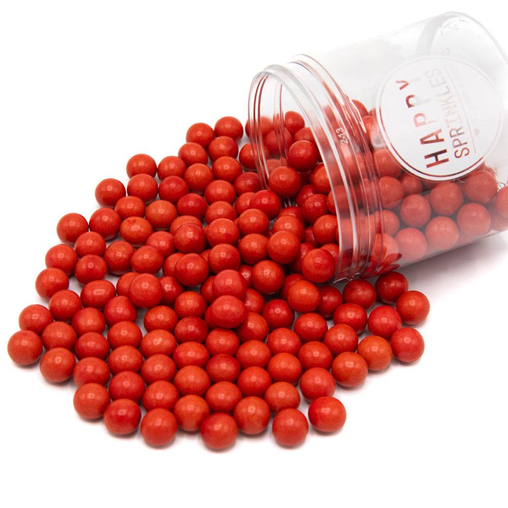 happy sprinkles red chocolate pearls
