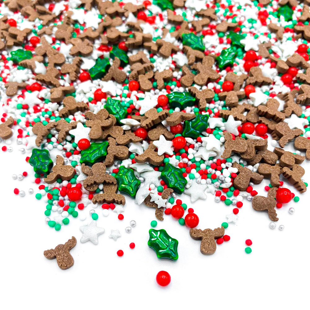 Happy sprinkles Christmas sprinkles red nose